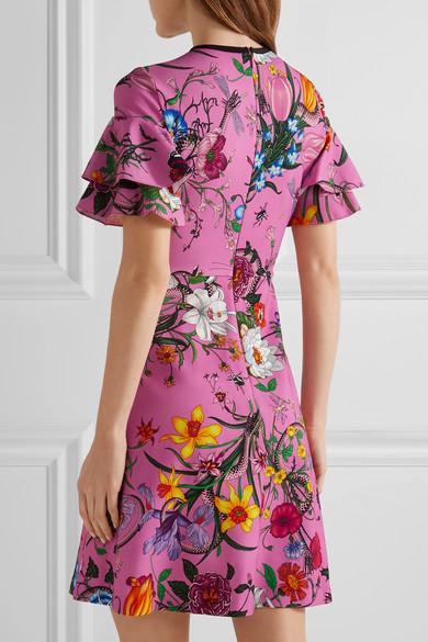 e490e06b5 Gucci | Ruffled printed stretch-jersey mini dress | NET-A-PORTER.COM