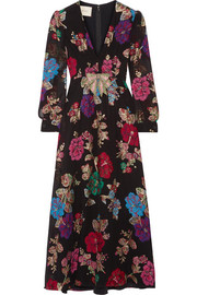 Gucci Embellished fil coupé silk-blend dress