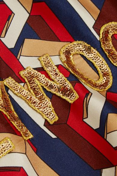 Gucci Bomberjacke aus bedrucktem Seiden-Twill mit Applikation Billig Verkauf Footlocker Rabatt Exklusiv Gute Qualität Freies Verschiffen Bilder Echt Verkauf Online 1W7n9