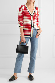 Gucci Striped stretch cotton-blend cardigan