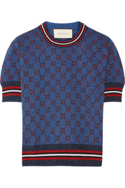 Gucci Metallic jacquard-knit sweater