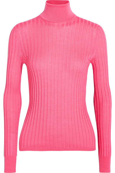 Gucci - Ribbed Wool, Silk And Cashmere-blend Sweater - Bubblegum