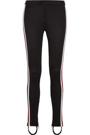 Striped tech-jersey leggings