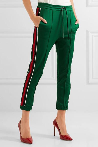 gucci pants. gucci. striped jersey track pants gucci n
