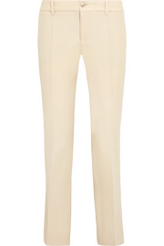 Gucci Wool and silk-blend flared pants