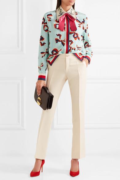 Alle Größen Gucci Schlaghose aus einer Woll-Seidenmischung Niedrig Preis Versandkosten Für Verkauf Freies Verschiffen Finden Große Online Einkaufen Günstig Kaufen Besten Großhandel dCHzr