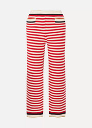 Gucci Cropped striped cotton-blend straight-leg pants