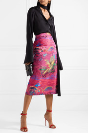 Gucci Metallic jacquard midi skirt