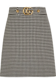 Gucci Houndstooth wool-blend mini skirt