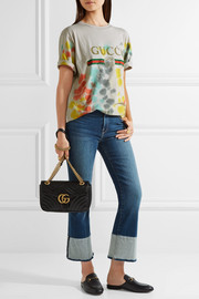Gucci Printed tie-dyed cotton-jersey T-shirt