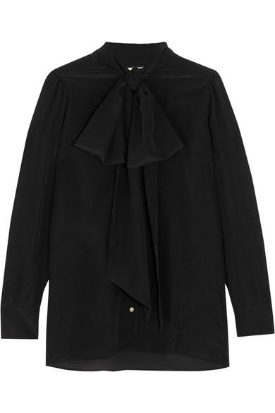 0e9658476e1 Gucci. Pussy-bow printed silk blouse
