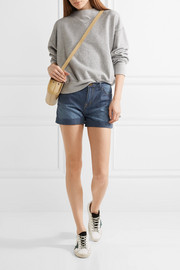 Current/Elliott The Rolled Boyfriend striped cotton shorts