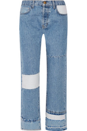 Current/Elliott The DIY patchwork high-rise straight-leg jeans