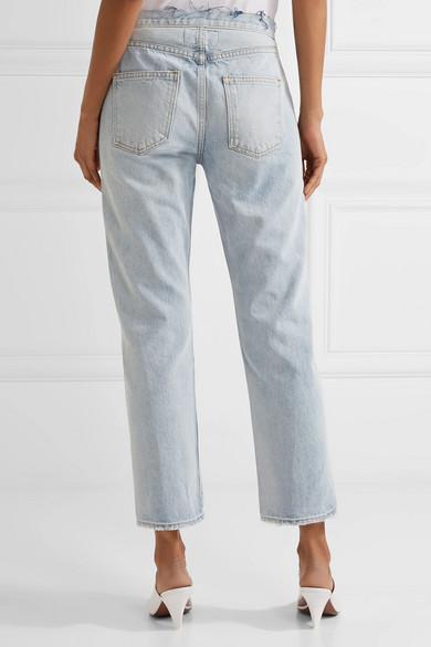 The Original Straight Distressed High-rise Jeans - Light blue Current Elliott xOdWlSBR