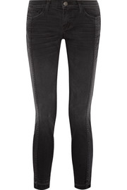 Current/Elliott The Seamed Easy Stiletto mid-rise stretch-denim skinny jeans
