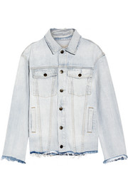 The Vintage Boyfriend Trucker distressed denim jacket