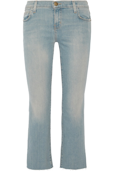 Current/elliott Woman The Kick Cropped Mid-rise Flared Jeans Dark Denim Size 25 Current Elliott Buy Cheap New Styles CK1XLzB