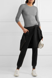 Ribbed stretch-Micro Modal top