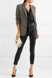 L'Agence Adelaide cropped leather skinny pants