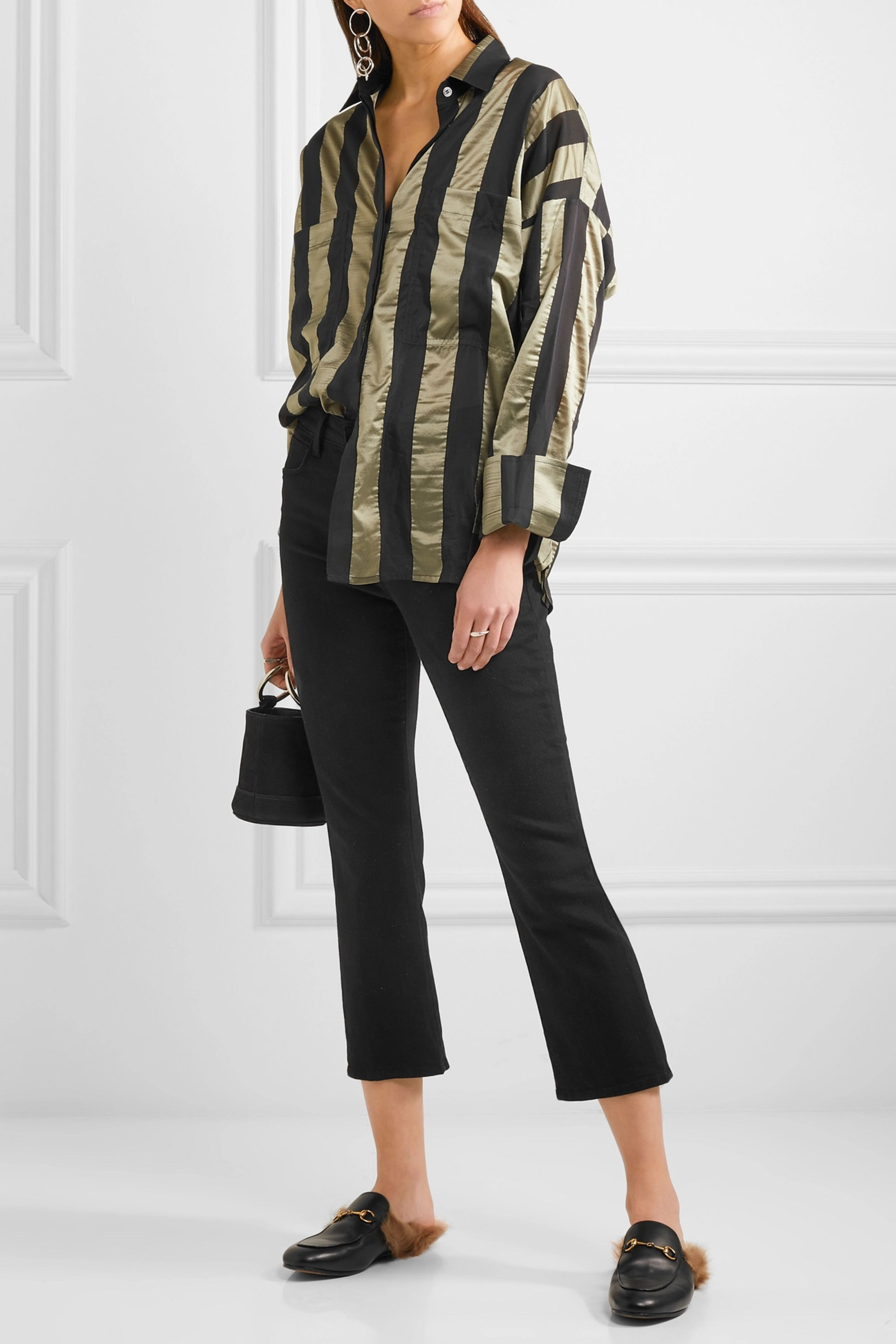 L'Agence Serena cropped mid-rise bootcut jeans
