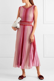 Missoni Reversible metallic stretch-knit midi dress