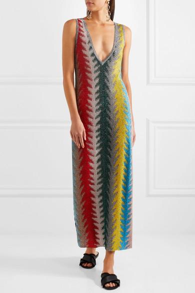 Crochet knit maxi dress