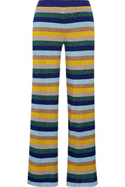 Missoni Metallic striped knitted wide-leg pants
