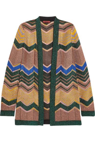 Missoni - Metallic Crochet-knit Cardigan - Camel