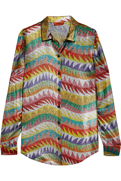 Missoni - Silk-blend Lamé Shirt - Metallic