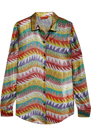 Missoni Silk-blend lamé shirt
