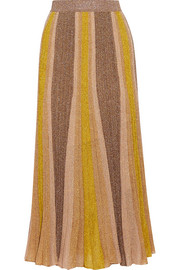 Missoni Metallic stretch-knit midi skirt