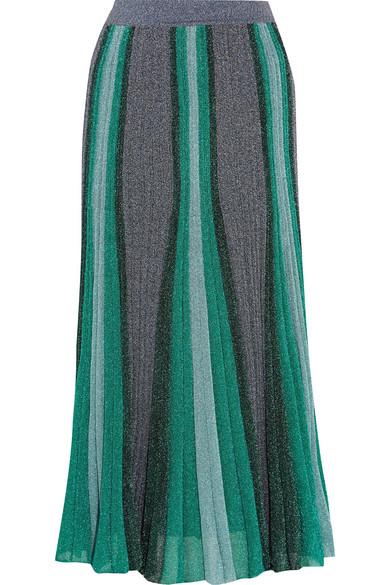 Missoni - Metallic Stretch-knit Midi Skirt - Blue