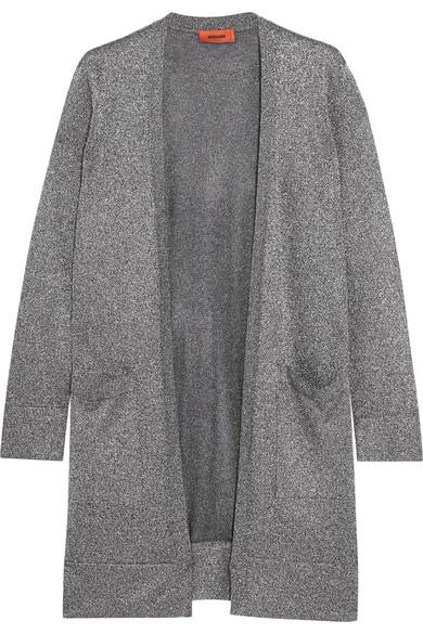 Missoni - Metallic Stretch-knit Cardigan - Silver