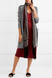 Missoni Metallic stretch-knit cardigan