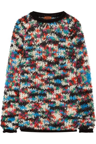 Missoni - Oversized Open-knit Wool-blend Sweater - Blue at NET-A-PORTER