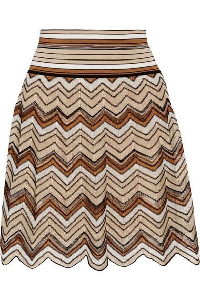 Missoni - Crochet-knit Mini Skirt - Brown