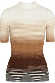 Ombré cable-knit wool top