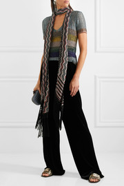 Missoni Striped metallic knitted top
