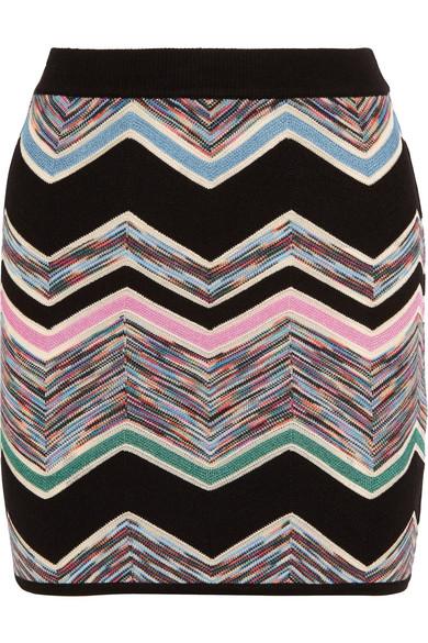 Missoni - Zigzag Wool-blend Mini Skirt - Lilac