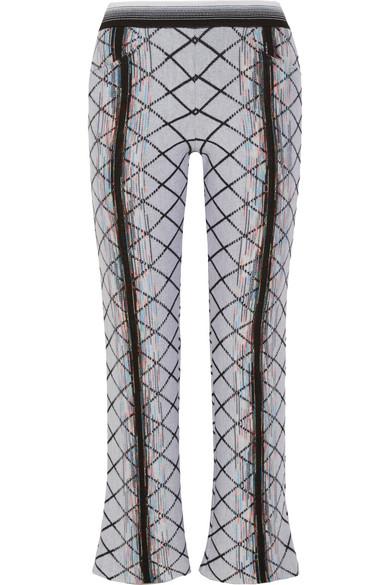 Missoni - Wool-blend Jacquard Flared Pants - Off-white