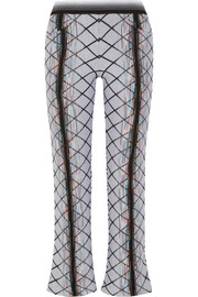 Missoni Wool-blend jacquard flared pants