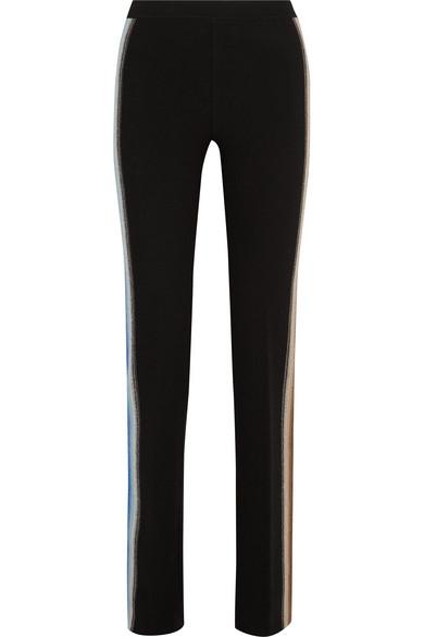 Missoni - Intarsia Wool-blend Straight-leg Pants - Black
