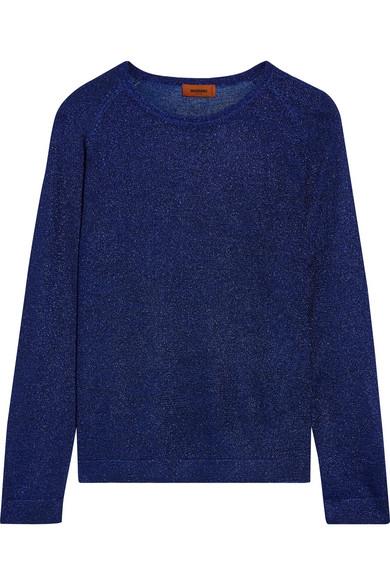 Missoni - Metallic Knitted Sweater - Royal blue