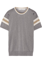 Golden Goose Deluxe Brand Claudine striped metallic knitted top