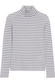 Golden Goose Deluxe Brand Iman striped stretch cotton-blend turtleneck top