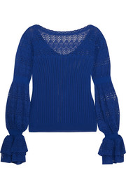 Oscar de la Renta Stretch-knit top