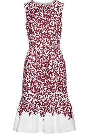 Oscar de la Renta Printed cotton-blend canvas dress