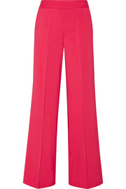 Oscar de la Renta Stretch-cady wide-leg pants