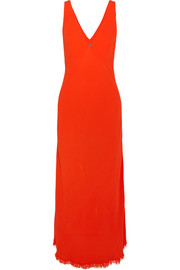 Raquel Allegra Tulip crepe maxi dress