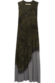 Raquel Allegra Tie-dyed cotton-blend jersey maxi dress
